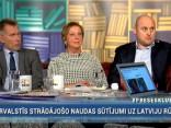 """""""Preses Klubā"""" viesos: Mairita Solima, Andris Kulbergs un Saulvedis Vārpiņš"""