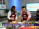 Ilona Jurševska gatavo greipfrūtu salātus ar maskarpones-riekstu bumbām