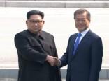 Ziemeļkorejas un Dienvidkorejas līderi vēsturiski sarokojas uz robežas