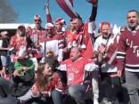 Latvijas izlases hokejisti par fanu atbalstu