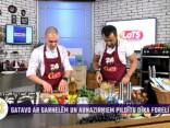 Ņikita Pribiļskis gatavo ar garnelēm un aunazirņiem pildītu dīķa foreli