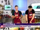 Aksels Cīrulis gatavo saldos kartupeļus ar turku zirņiem un lēcu zupu ar šampinjoniem