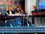 """""""Preses Klubā"""" viesos: Juris Birznieks, Ojārs Spārītis un Elita Veidemane"""