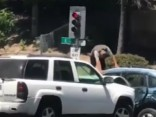 Autovadītājam «aizbrauc jumts»; viņš apzināti sasit citu mašīnu