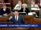 Tiešraide no Saeimas: šodien neuzticības balsojums tieslietu ministram
