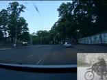 В Вецриге пьяный мотоциклист убегал от полици