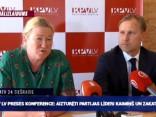 KPV LV preses konference: aizturēti partijas līderi Kaimiņš un Zakatistovs