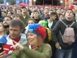 Krievijas fani priecājas par uzvaru