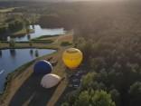 Полет на воздушных шарах в литовском Бирштонасе