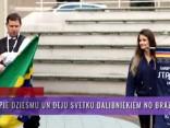 Viesos pie Dziesmu un Deju svētku dalībniekiem no Brazīlijas