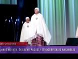 """Ieskats latviešu tautas tērpu skatē koncertzālē """"Palladium"""""""
