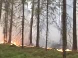 Izgriezums no tiešraides: kadri no Valdgales kūdras purva ugunsgrēka