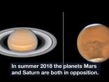 Hubble iemūžinājis Saturnu un Marsu augstā detalizācijā