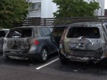 Jaunieši Zviedrijā dedzina automašīnas